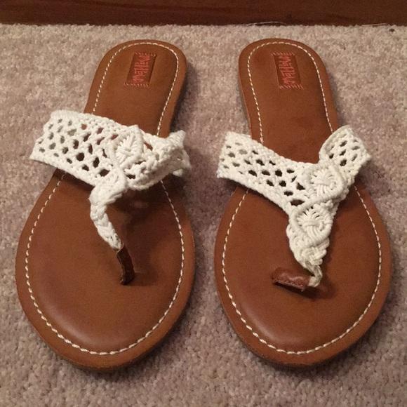 Shoes   Lace Flip Flops Size 11   Poshmark